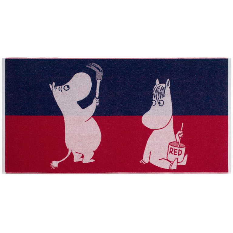 Paint Moomin bath towel 70 x 140 cm by Finlayson - The Official Moomin Shop
