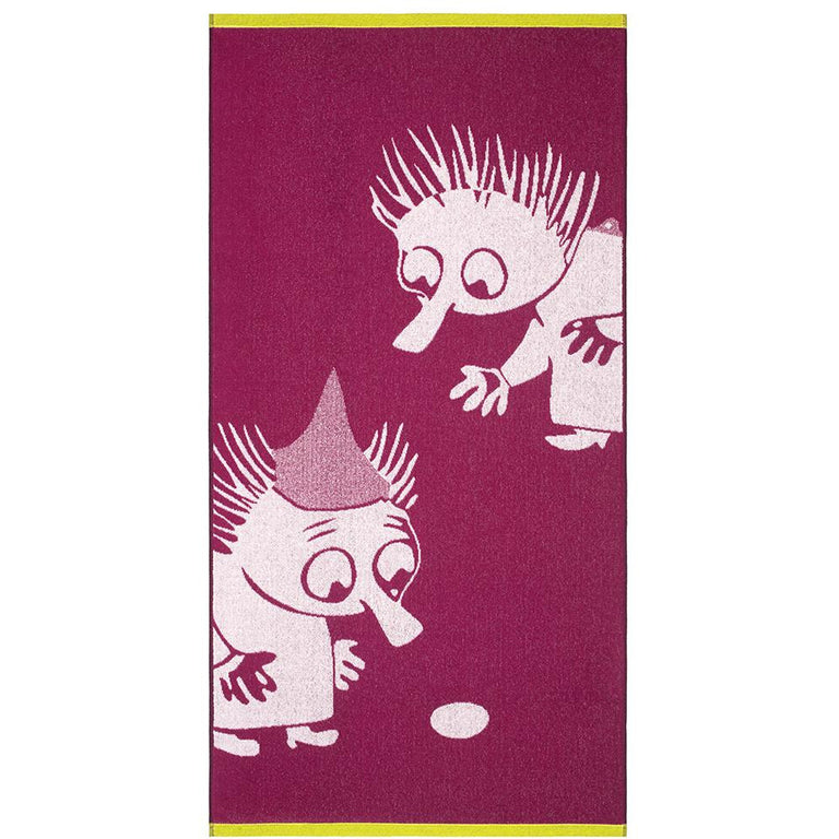 Thingumy & Bob bath towel 70 x 140 cm by Finlayson - The Official Moomin Shop