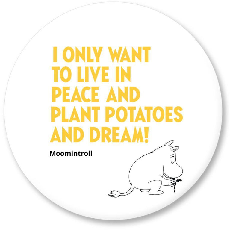 "Moomin ""Live in peace"" Magnet - Putinki - The Official Moomin Shop"