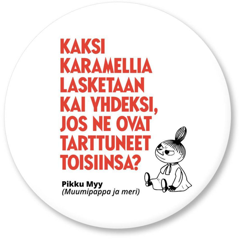 "Moomin ""Kaksi karamellia"" Magnet - Putinki - The Official Moomin Shop"