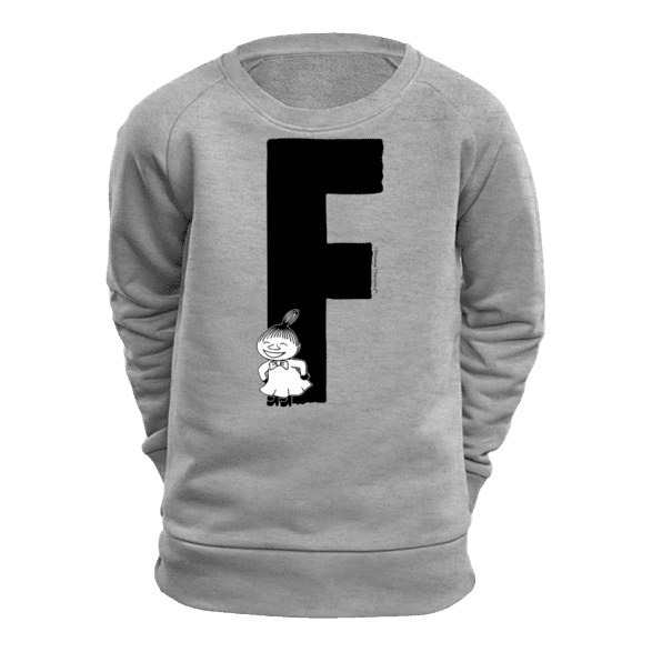 F - Moomin Alphabet Sweatshirt - feat. Moomin, Little My and Snufkin - The Official Moomin Shop