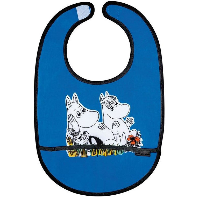 PVC coated Moomin bib blue - The Official Moomin Shop