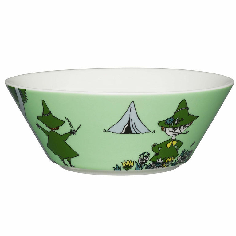 Green Snufkin bowl by Arabia - The Official Moomin Shop