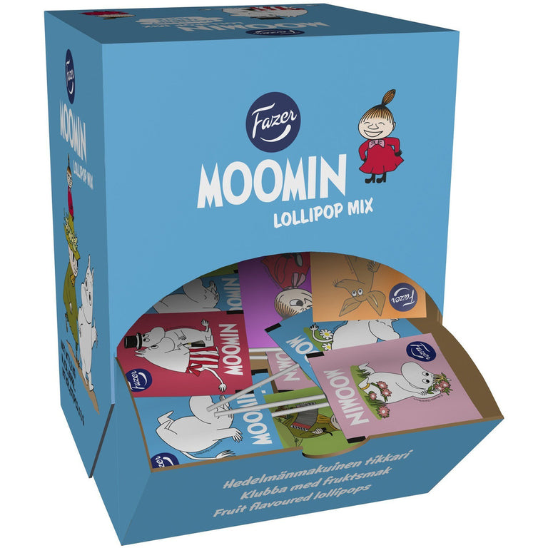 Box of Moomin lollipops by Fazer - The Official Moomin Shop