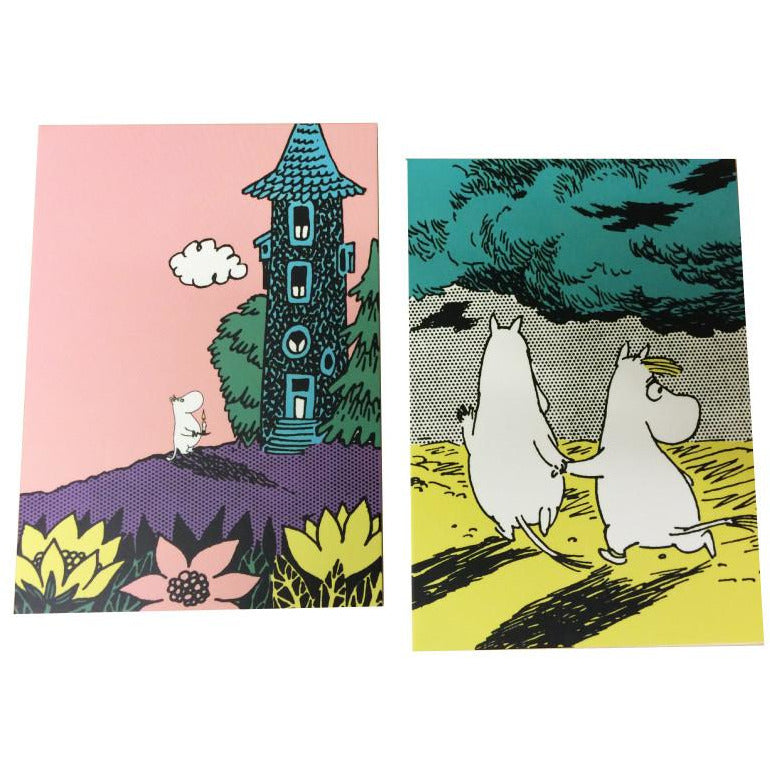 Moomin notecards in a wallet - The Official Moomin Shop