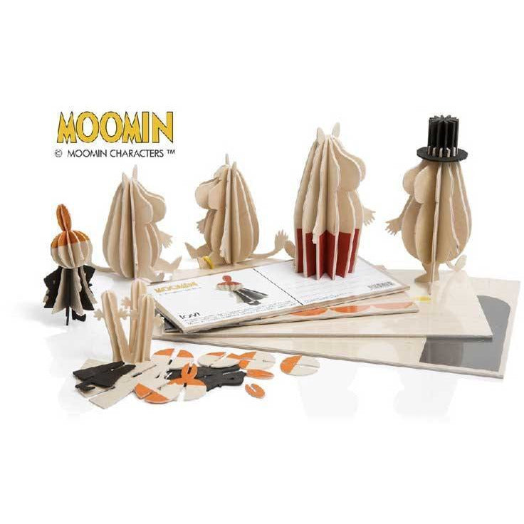 Moominmamma and Moominpappa wood sculptures 11 cm by Lovi - The Official Moomin Shop