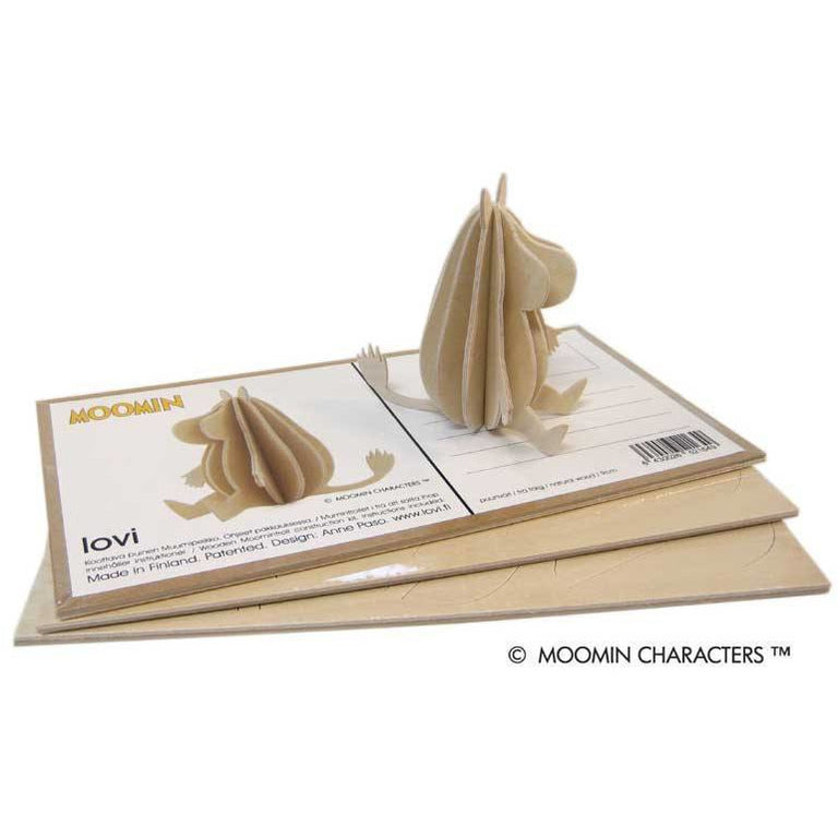 Moomintroll and Little My wood sculptures 9 cm by Lovi - The Official Moomin Shop