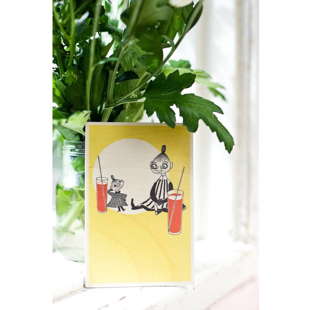 Who will comfort Toffle wooden card 4-pack - The Official Moomin Shop