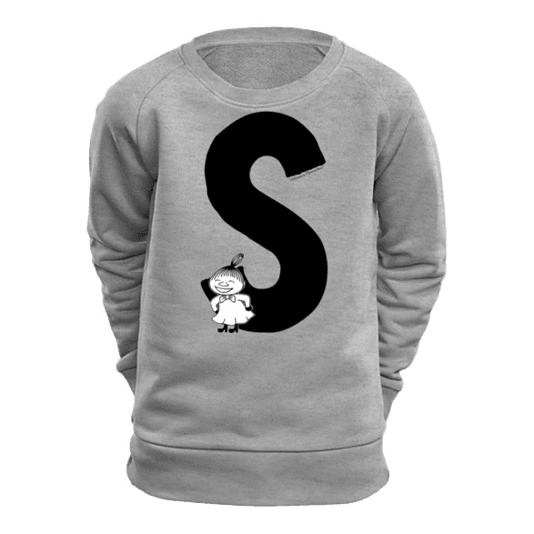 S - Moomin Alphabet Sweatshirt - feat. Moomin, Little My and Snufkin - The Official Moomin Shop