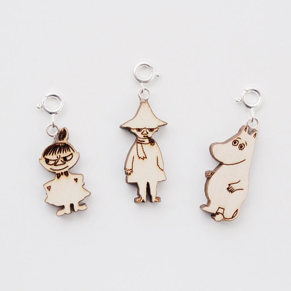 Moomin Wooden Charms, set of 3 by Showroom Finland - The Official Moomin Shop