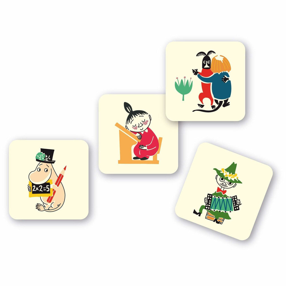 Glass coaster Moomin 1950's 4-pack by Opto Design - The Official Moomin Shop