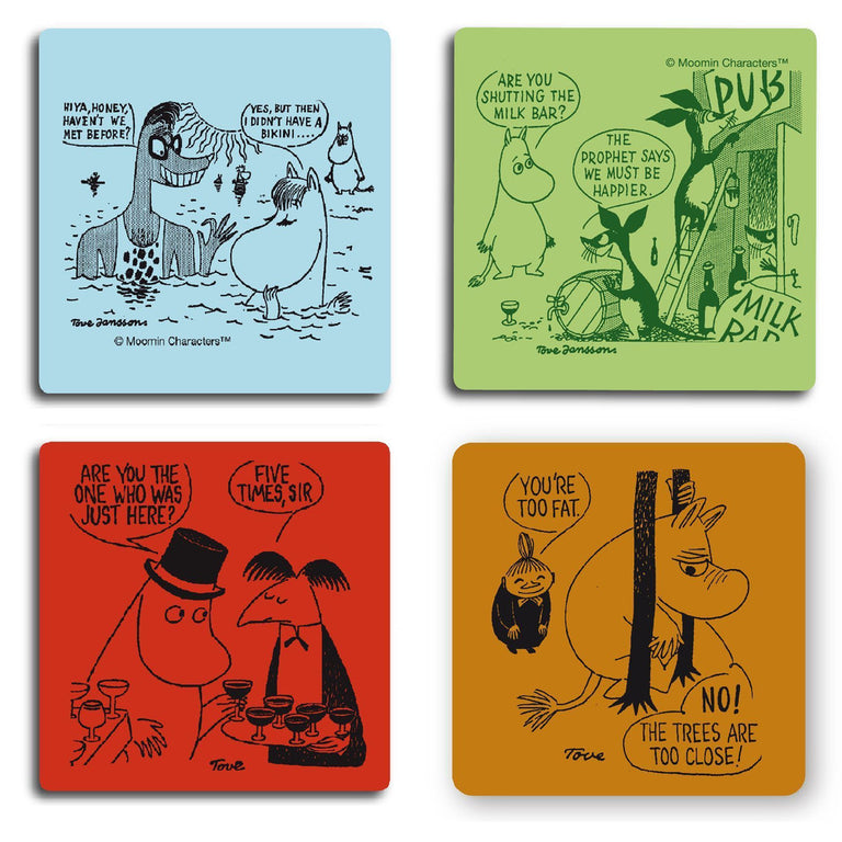 Moomin Comics set I coaster 4 pack by Opto Design - The Official Moomin Shop