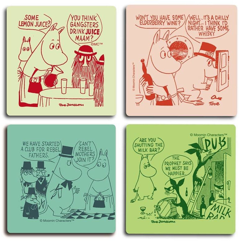 Moomin rebels coaster set by Opto Design - The Official Moomin Shop