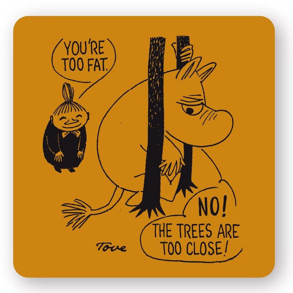 Moomin too close coaster set by Opto Design - The Official Moomin Shop