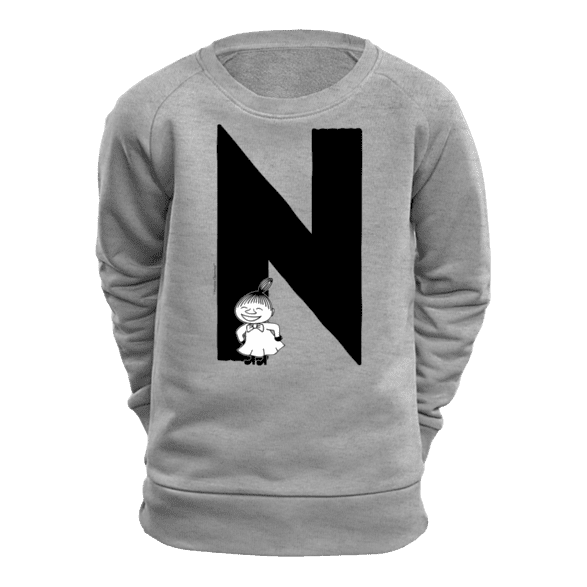 N - Moomin Alphabet Sweatshirt - feat. Moomin, Little My and Snufkin - The Official Moomin Shop