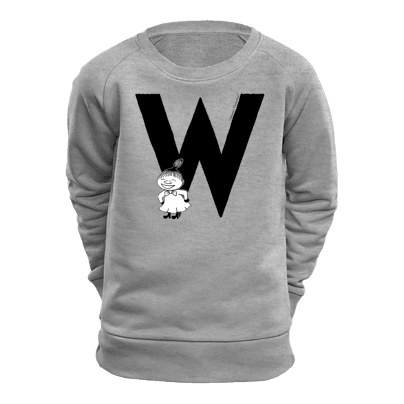 W - Moomin Alphabet Sweatshirt - feat. Moomin, Little My and Snufkin - The Official Moomin Shop