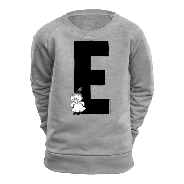 E - Moomin Alphabet Sweatshirt - feat. Moomin, Little My and Snufkin - The Official Moomin Shop
