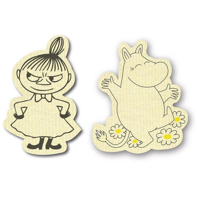 Moomin and Little My dishcloth set - The Official Moomin Shop
