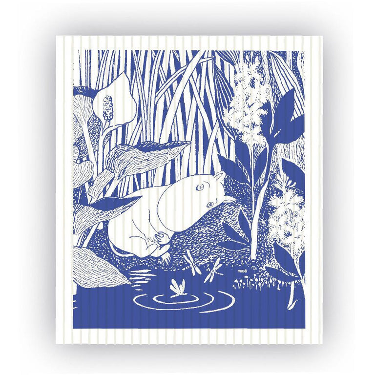 Tove Moomintroll Dreaming dish cloth - The Official Moomin Shop