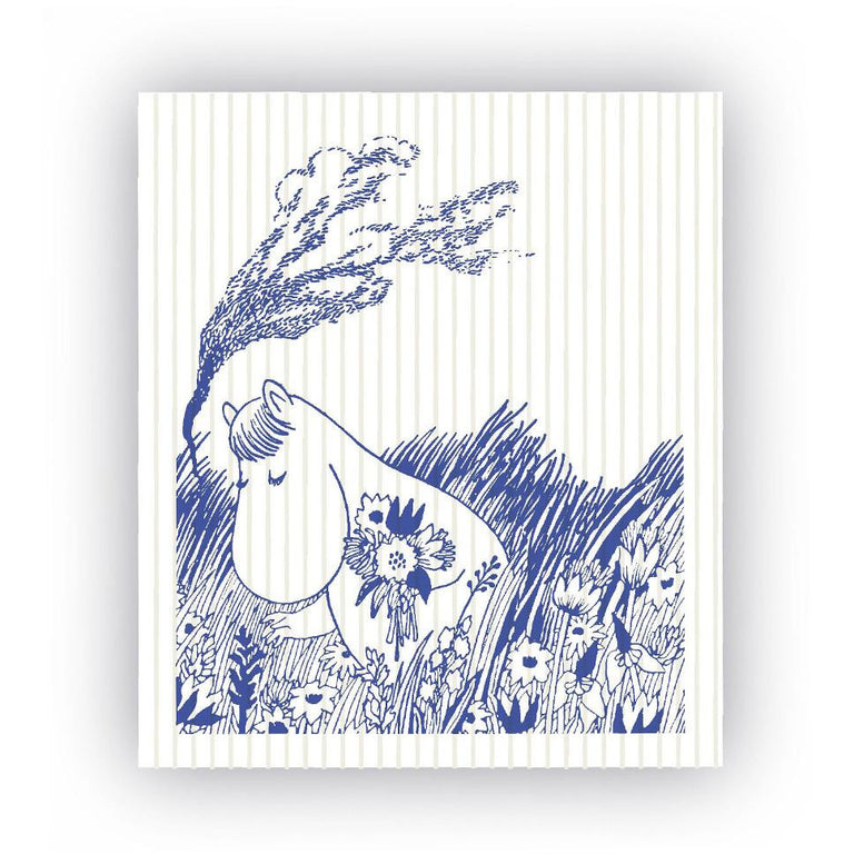 Tove Snorkmaiden in the Meadow dish cloth - The Official Moomin Shop
