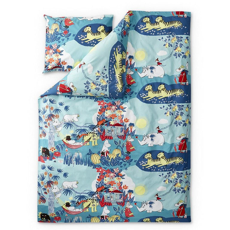 Moomin Jungle Duvet Cover set 210 x 150 cm - Finlayson - The Official Moomin Shop