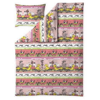 Moomin Tropical duvet cover pink 150 x 210 cm by Finlayson