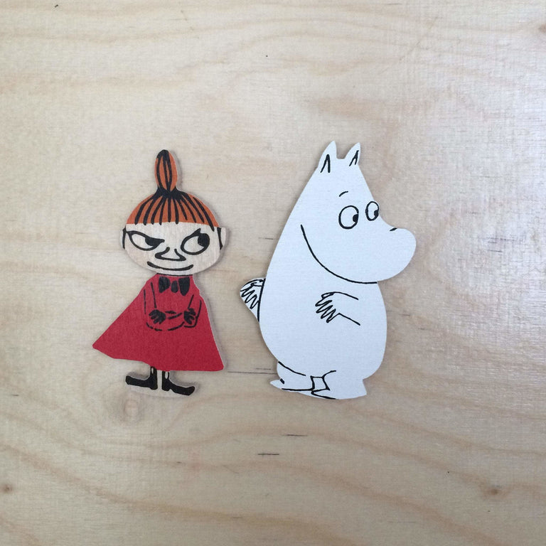 Little My and Moomintroll brooch by Aprilmai - The Official Moomin Shop