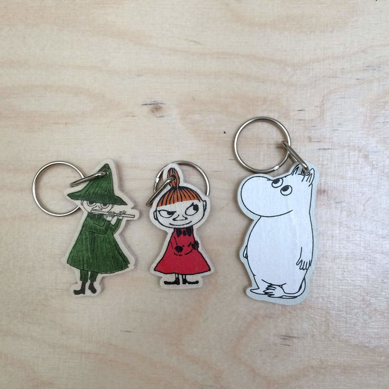 Little My, Moomintroll and Snufkin keyrings by Aprilmai - The Official Moomin Shop