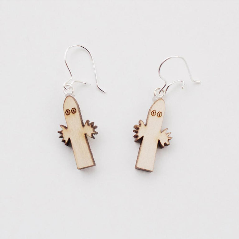 Moomin Wooden Earrings, Hattifatteners by Showroom Finland - The Official Moomin Shop