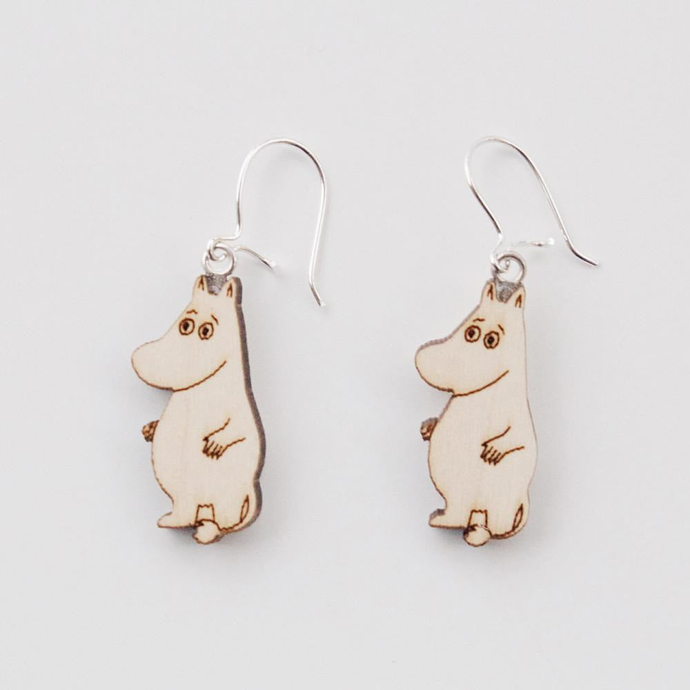 Moomin Wooden Earrings, Moomintroll by Showroom Finland - The Official Moomin Shop