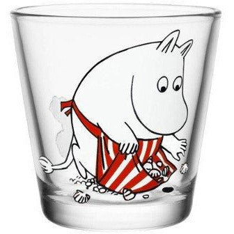 Moominmamma on the beach 21 cl glass by Iittala - The Official Moomin Shop