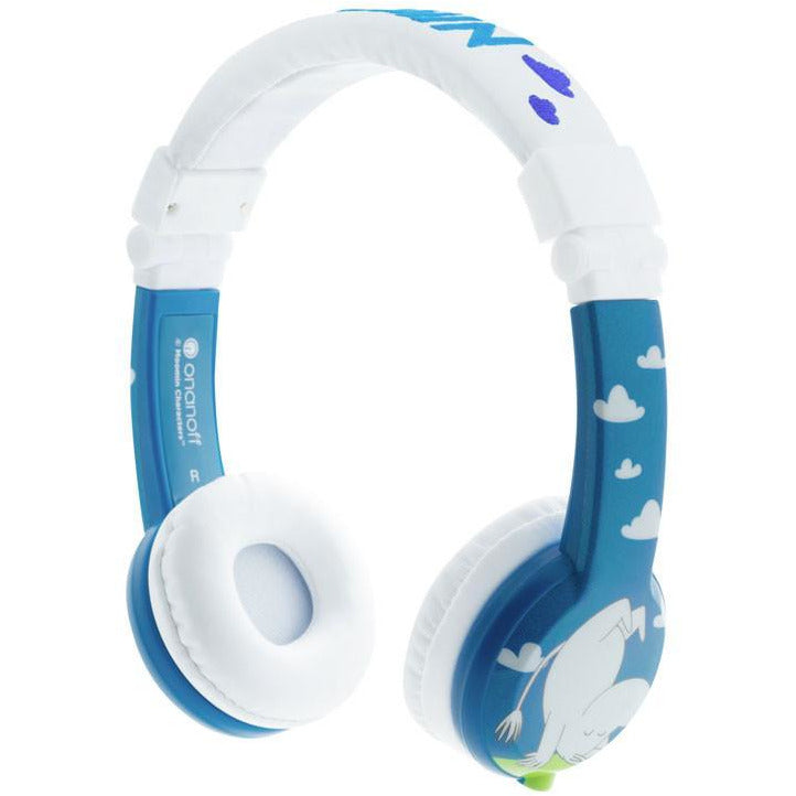 Foldable blue Moomin headphones by BuddyPhones - The Official Moomin Shop