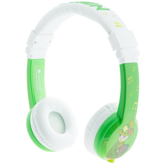 Foldable green Snufkin headphones by BuddyPhones