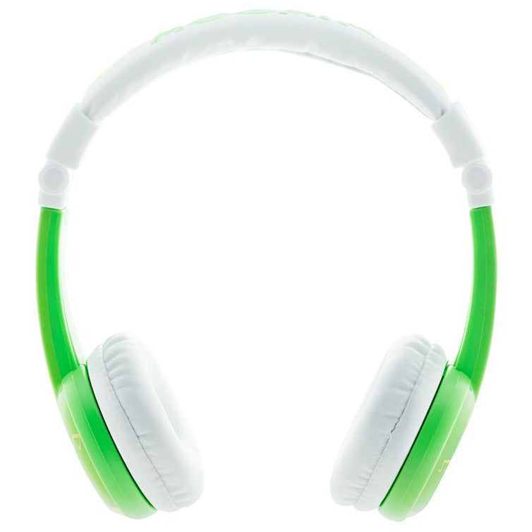 Foldable green Snufkin headphones by BuddyPhones - The Official Moomin Shop