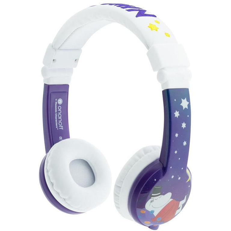 Foldable purple Moominpappa headphones by BuddyPhones - The Official Moomin Shop