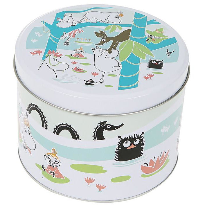 Moomin and the pond round jar - The Official Moomin Shop