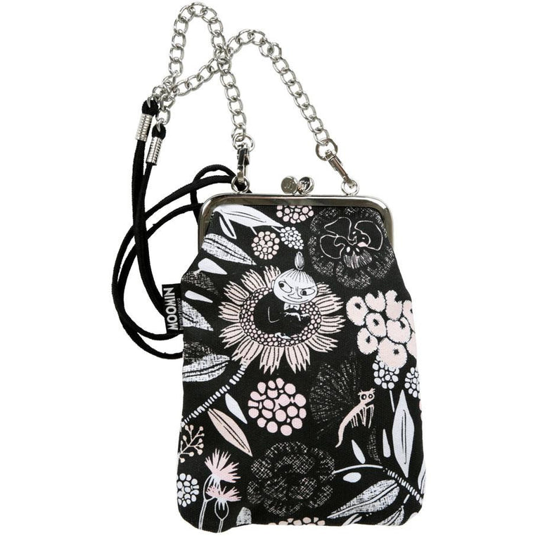 Little My Dreaming purse with strap black by Martinex - The Official Moomin Shop