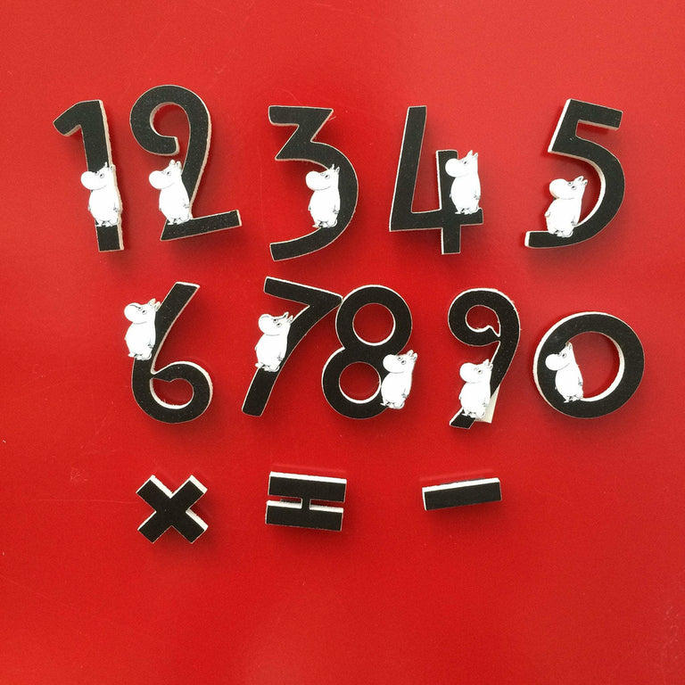 Moomin numbers wooden magnets by Aprilmai - The Official Moomin Shop