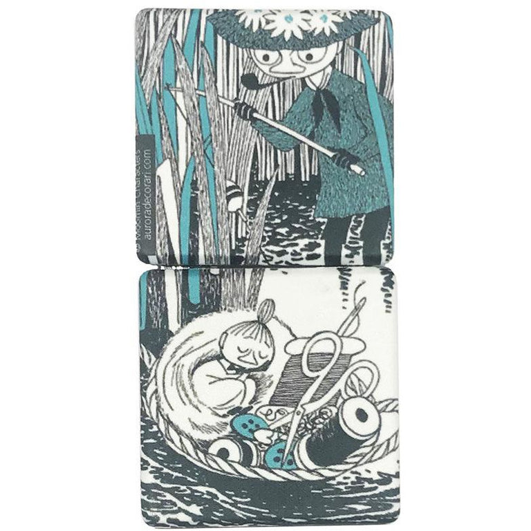 Little My and Snufkin pocket mirror - The Official Moomin Shop