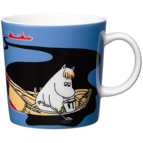 Håll Sverige Rent blue Moomin mug by Arabia