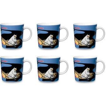Håll Sverige Rent blue Moomin mug six pack