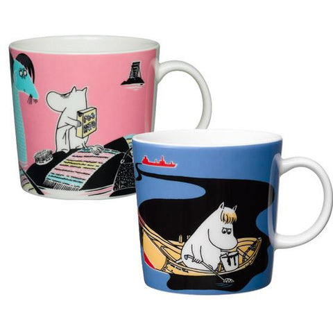 Håll Sverige Rent Moomin mug set pink and blue