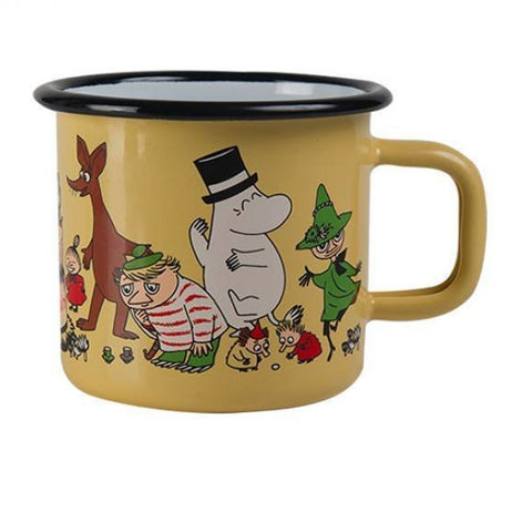 Moomin 70 years enamel mug 3,7 dl