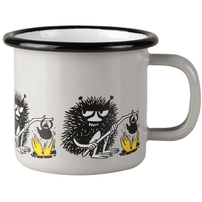 Moomin Friends - Stinky 1,5 dl enamel mug - The Official Moomin Shop