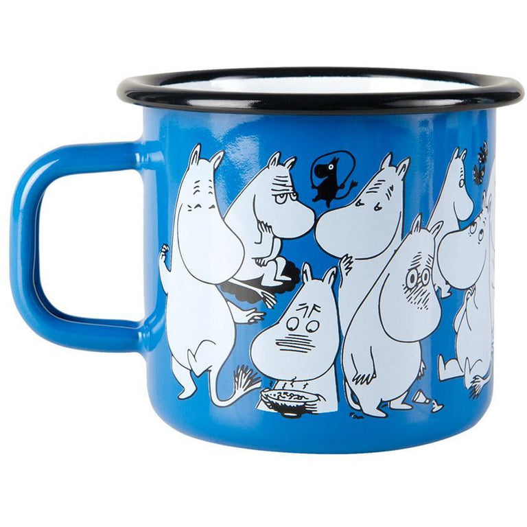 Moomin Shop enamel mug 3,7 dl Blue - Limited edition - The Official Moomin Shop