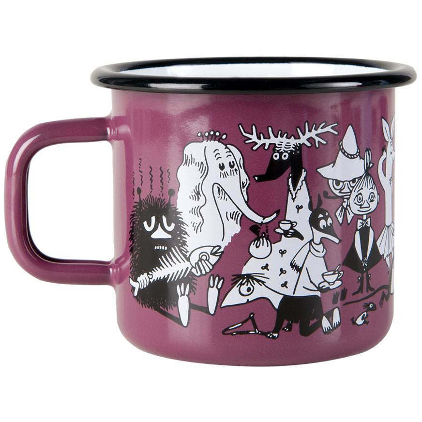 Moomin Shop enamel mug 3,7 dl Purple - Limited edition - The Official Moomin Shop