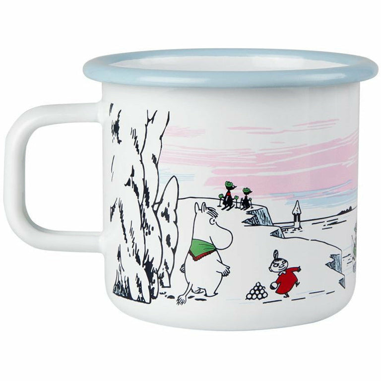 Moomin Winter 2017 enamel mug by Muurla - The Official Moomin Shop