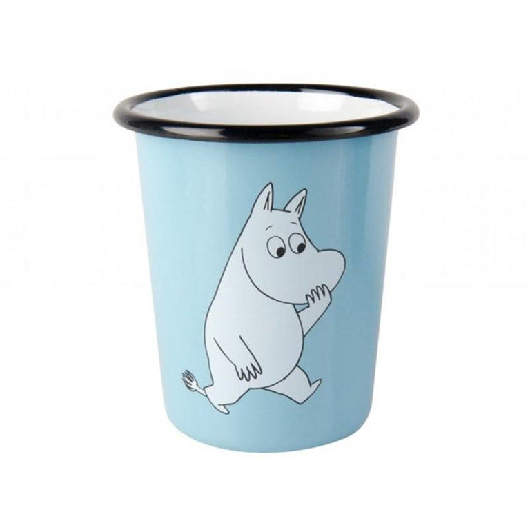 Moomintroll enamel cup 4 dl - The Official Moomin Shop
