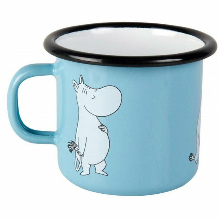 Moomintroll enamel mug 3,7 dl - The Official Moomin Shop