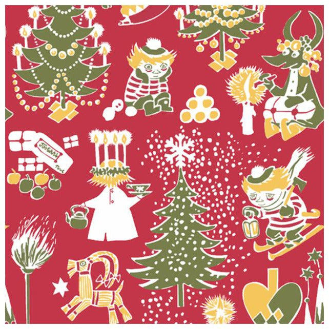 Christmas Moomin napkins red by Suomen Kerta - The Official Moomin Shop